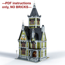 MOC- Old Mansion- 10273 Haunted House Modular Modification- PDF files only!
