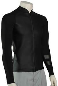Hurley Advantage Plus 1 MM LS Zip Surf Jacket - Black - New