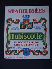 BUVARD BISCOTTES MABISCOTTE BISCOTTERIE ILE DE FRANCE MITRY MORY