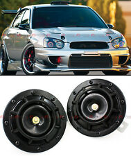2 X BLACK GRILL MOUNT COMPACT SUPER LOUD HORNS FOR MITSUBISHI EVO LANCER 7 8 9 X