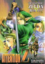 """Legend of ZELDA Doujinshi """" ATTENTION Z """" Link Saria Princess Zelda"""