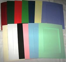 "Oblong Aperture Card 3 Fold 8"" X 6"" You Pick White Linen Effect 5"
