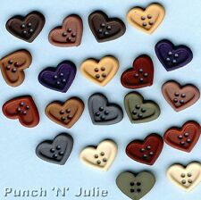 Dress It up Buttons - Quilt Hearts PK of Approx 18 12mm. Best
