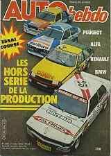 AUTO HEBDO n°308 du 11 Mars 1982 Essais course les voitures du championnat Produ