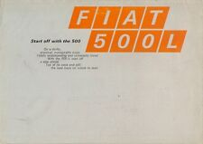 Fiat 500 L 1969-71 UK Market Sales Brochure