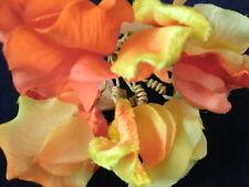 Vintage Millinery Flower Velvet 10 Sweet Pea Yellow KG8