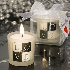 25 Stylish Love Design Theme Candle Wedding Favor Shower Party Event Bundle