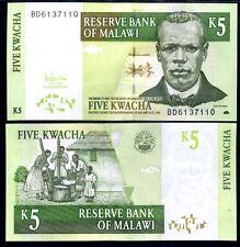 MALAWI 5 KWACHA 2005 UNC  P 36