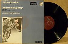 HOLLAND Philips LP 835 482 AY STRAVINSKY Symphonie de Psaumes MOUSSORGSKY Songs