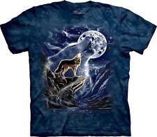 The Mountain Unisexe Adulte Esprit Du Loup A La Lune T Shirt