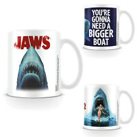 Jaws Mug Fishing Logo Poster Movie 1 2  Steven Spielberg Coffee Tea Official
