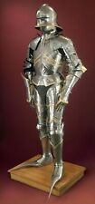 Medieval Knight Suit Of Armor Full Body Brass Combat Armour Costume Reenactment