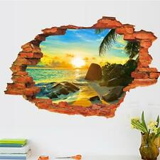 3D Wall Decal Sticker - Sunset Over the Water