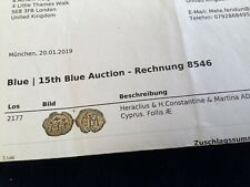 More details for byzantine bronze coin of heraclitus,constantine and martina 610-641 ad…item 160