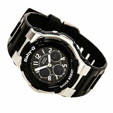 Casio BGA110-1B2 Women's Baby-g Ana-digi Negro Reloj Alarma Temporizador De Resina World