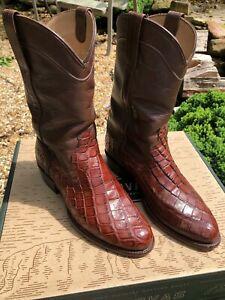 Tecovas alligator western boots excellent condition with original box Size 8 EE