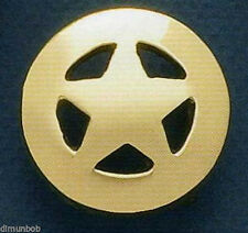 Solid Brass Ranger Star Badge Belt Buckle (Petite)