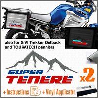 2x Adesivi Grigio Blu Rosso compatibile con Yamaha XT 1200 Z Super Tenere XT1200