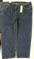 LEVI STRAUSS 550 Denim Blue Jeans Relaxed Leg Tapered Leg Big & Tall Mens 50x30