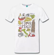 T-SHIRT MAGLIA SOUVENIR I LOVE ITALY ROMA FIRENZE VENEZIA ARTWORK 1 S-M-L-XL