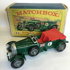 Matchbox Y-5 1929 4 1/2 (S) Bentley Boxed Yesteryear