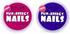 MUA 2x 1.5g NAIL ART pelliccia effetto Borgogna Rosa Fluff & coccole + SOFFICI Bobbin