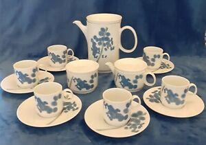Richard Ginori Italy Coffee Pot, Sugar Bowl, milk Jug, Espresso Cups in VGC