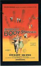 FICHE DE L'AFFICHE : INVASION OF THE BODY SNATCHERS - Don Siegel 1956