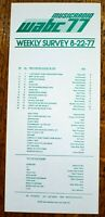 WABC New York Radio Survey Music Chart August 22 1977 Andy Gibb Emotions