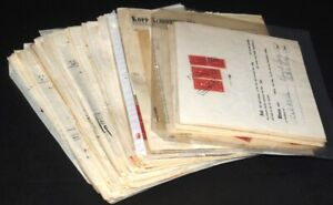 US Documentary Revenue Stamps on 300 Documents, Deeds, Stock Letters 1950s-60s