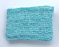 Soft Handmade Knit Baby Blanket ~ Afghan Throw ~ Shower Gift Nursery Bedding