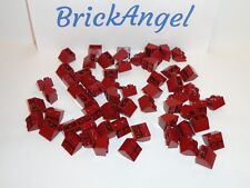 NEW LEGO Dark Red 2X2 45° Inverted Slope Bricks Wedge Lot of 50 Pieces 3660