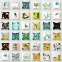 Home Decor Polyester Flower & Plants Pillow Case Sofa Car Throw Cushion Cover