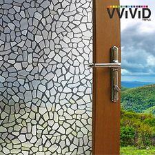 "VViViD Gray pebbles 36"" x 60"" Window Privacy Film Decal"
