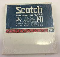 "Scotch Magnetic Recording Tape Tartan Series No. 141-600 ft 5"" Plastic Reel 1/4"""
