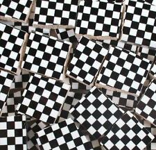 Ceramic Mosaic Tiles - Black And White Checkered Squares Black Tile Pieces