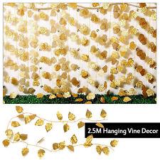 Hanging Artificial Ivy Vine Fake Foliage Dried Flower Leaf Garland Plant Decor