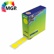 50x Self Adhesive Dispenser Round Circle Dot Labels Yellow 19mm 1000 labels/Pack