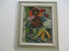 FREDERICK BUCCHOLZ MODERNIST 1920'S OIL PAINTING BRIGHT BOLD STILL LIFE ANTIQUE