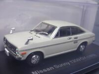 Nissan Sunny 1200 GX 1970 White 1/43 Scale Box Mini Car Display Diecast Vol 13