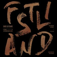 FTISLAND [OVER 10 YEARS] ALBUM CD+80p PhotoBook+Folding Poster+6p Card SEALED