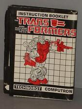 "G1 TRANSFORMER COMPUTRON GIFTSET INSTRUCTION MANUAL # 1 ""ORIGINAL VERSION"""