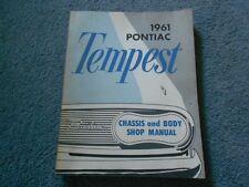 1961 PONTIAC TEMPEST CHASSIS and BODY SHOP SERVICE REPAIR MANUAL ORIGINAL S-6104