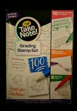 Crayola Take Note! Grading Stamp Set - Teachers Stationary - New - Home School