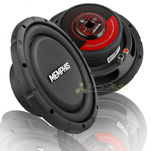 "Memphis 10"" Subwoofer Shallow Mount 500W Max Single 4 Ohm Power Reference 2 Pack"