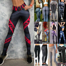 Ladies Women Yoga Pants Fitness Leggings Running Gym Exercise Sports Trousers Ds