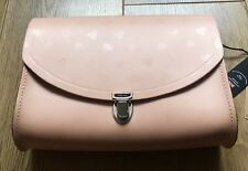 The Cambridge Satchel Company Large Push Lock Bag in Pale Pink Heart Print