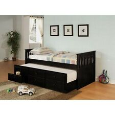 Coaster 300104 Day Bed with Trundle Mission Style in Black Finish, Black NEW