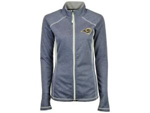 Los Angeles Rams Women's Majestic Club Pass Full-Zip NFL Jacket Size L 2XL