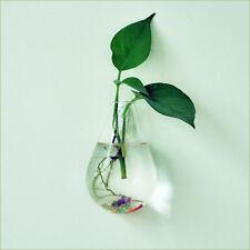 Waterdrop Glass Flower Vase Hanging Hydroponic Container Terrarium Decor DIY